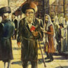 Painting: Man by the Wailing Wall Kotel
