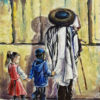 Painting: Praying by the Western Wall Kotel