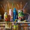 Painting: Artist's brusher