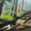 Painting: Paddle in the forest