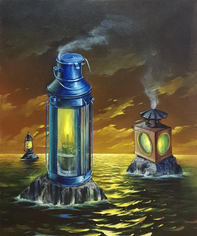 Original Oil Painting: Islands