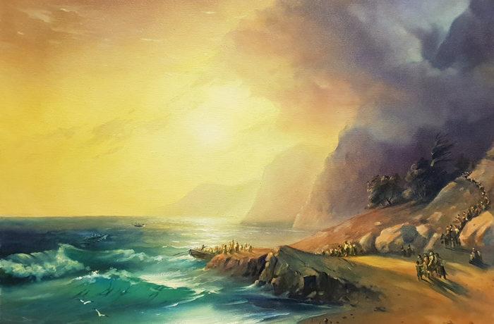 Original Oil Painting: The Island of Crete