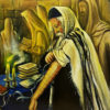 Painting: Praying by the Kotel