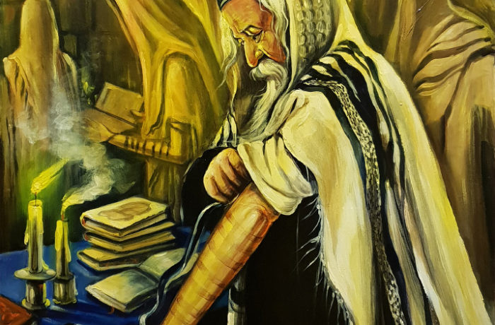 Original Oil Painting: Praying by the Kotel