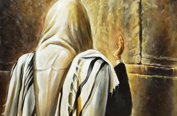 Painting: Praying by the Wall
