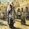 Painting: Man praying the Kotel Plaza