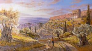 jerusalem view painting