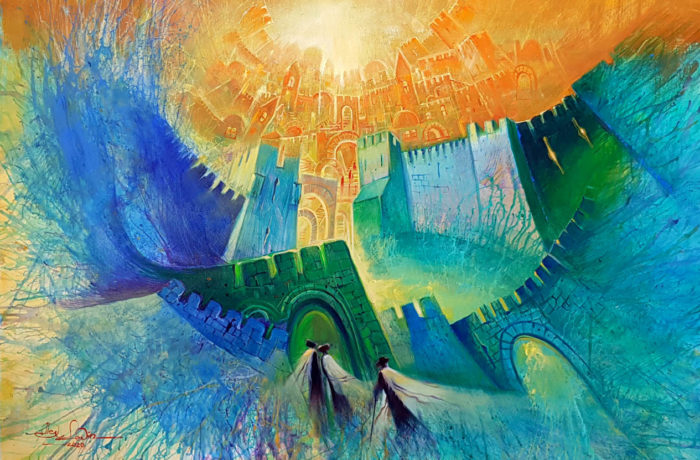 Original Oil Painting: Jerusalem Vibes