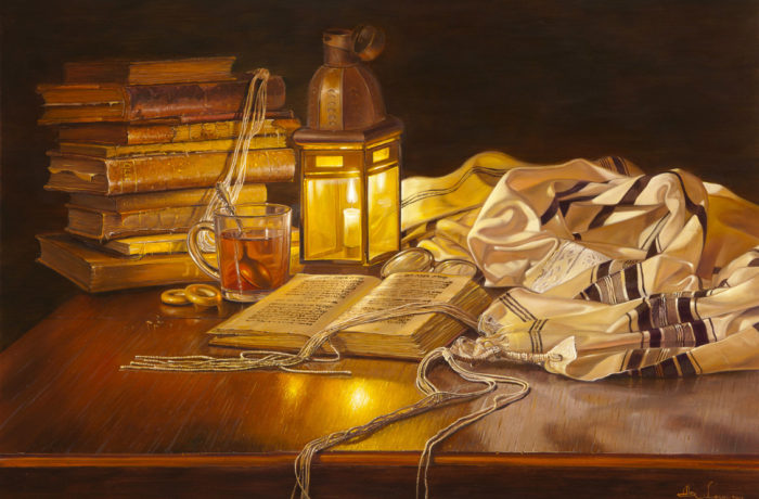 Original Oil Painting: After the morning Prayer