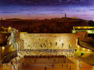 view at the western wall painting