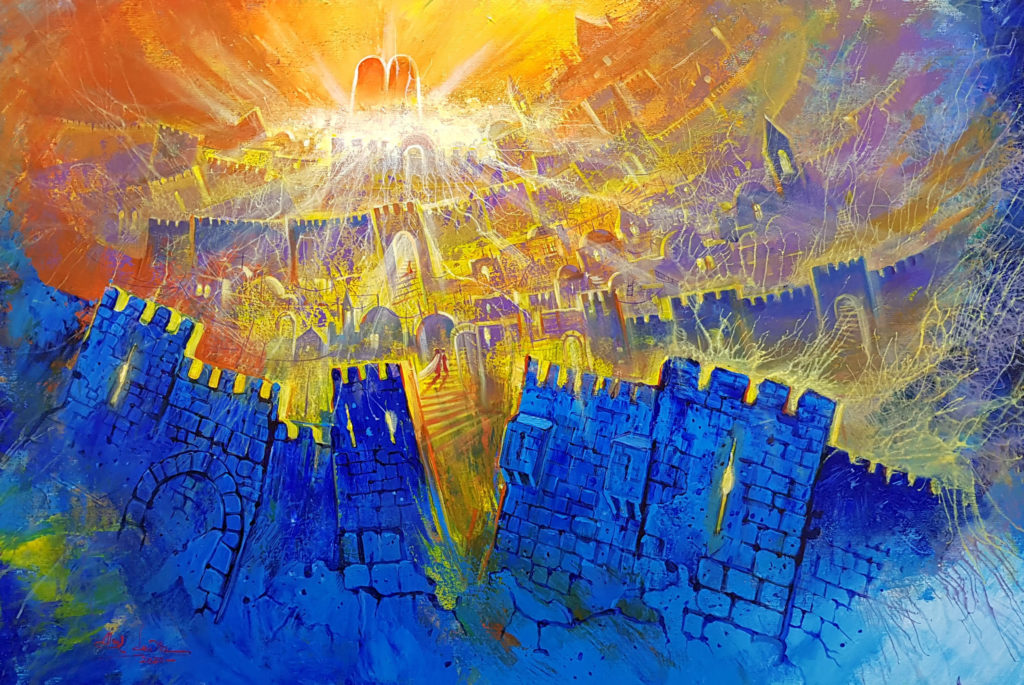 abstract jerusalem wall art