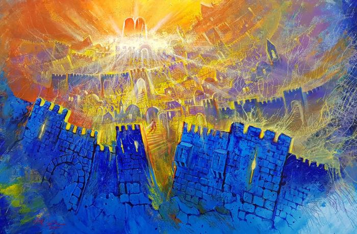 Original Oil Painting: Ascending towards the Light