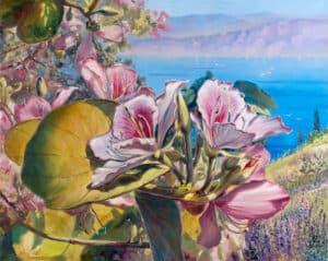 painting of flowers tiberies