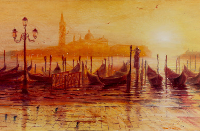 Original Oil Painting: Bach – Toccata and Fugue in D minor