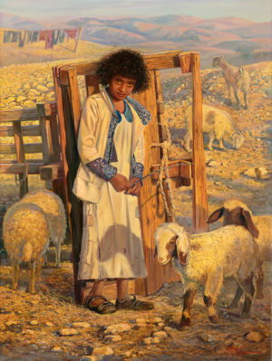 Bedouin from the Judean Desert, Painting by Alex Levin