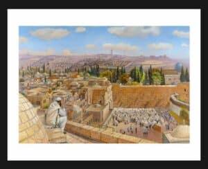 praying on jerusalem roof