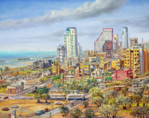 Bird's Eye View of Tel Aviv by Alex Levin