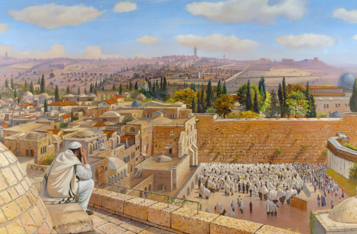 Original Oil Painting: Birkat Kohanim