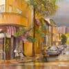 Painting: Blissful rain is finally in Tel Aviv