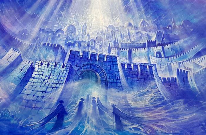 Original Oil Painting: Blue Euphoria