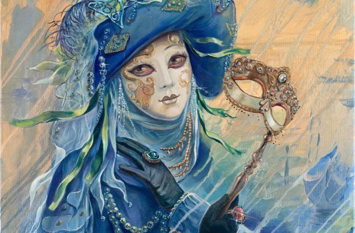 Original Oil Painting: Blue Venetian Dream