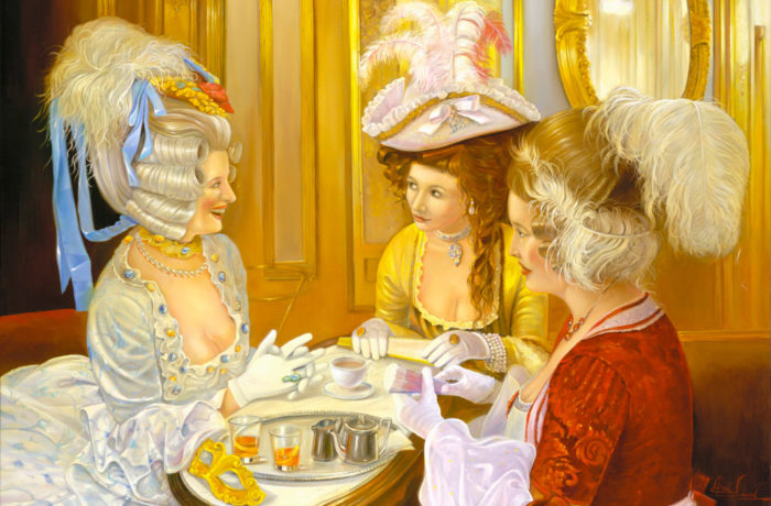 Painting: Carnival stories in Caffe Florian