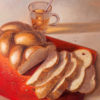 Painting: Challah with tea