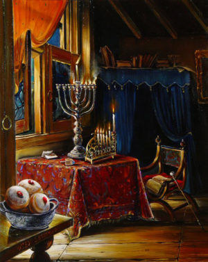 Alex Levin - Chanukah lights and suvganiot