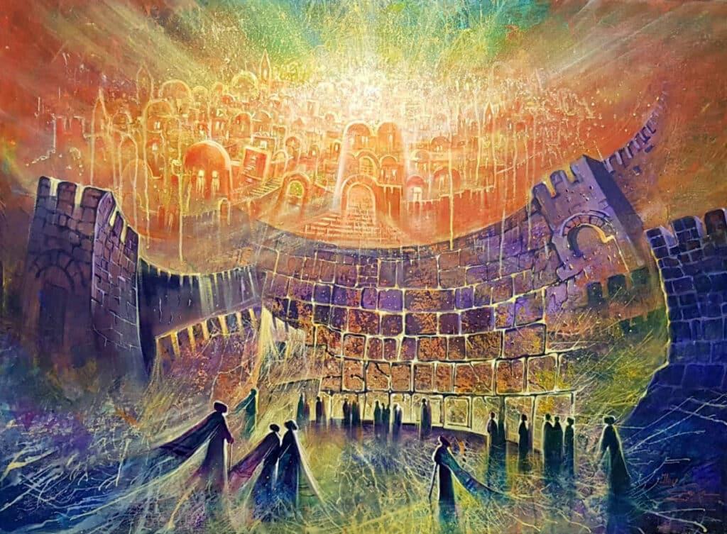 Abstract jerusalem modern art