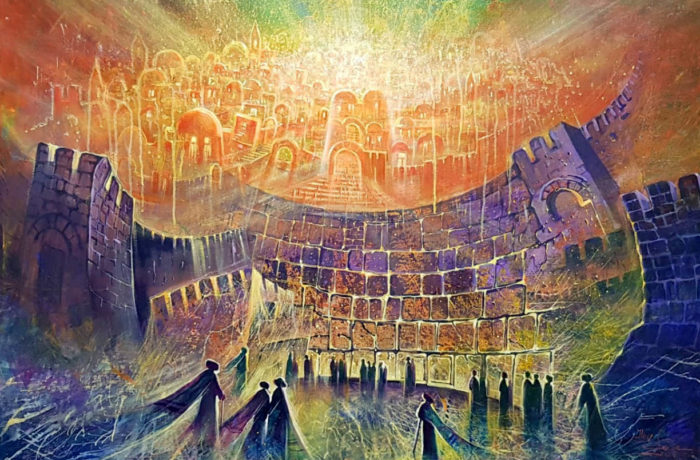 Original Oil Painting: Emerge of a new day in Jerusalem