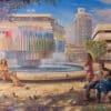 Painting: Enjoying life in Tel Aviv