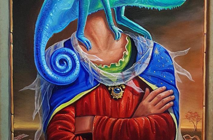 Original Oil Painting: Errare humanum est