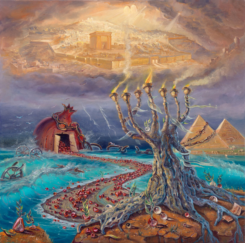 Exodus, Painting by Alex Levin