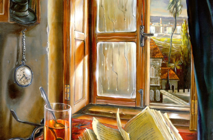 Original Oil Painting: First rain drops in Jerusalem