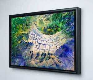 abstract jerusalem framed