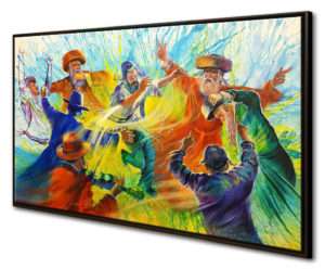 jewish dancing painting