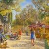 Painting: Fun time in Tel Aviv under the Sun