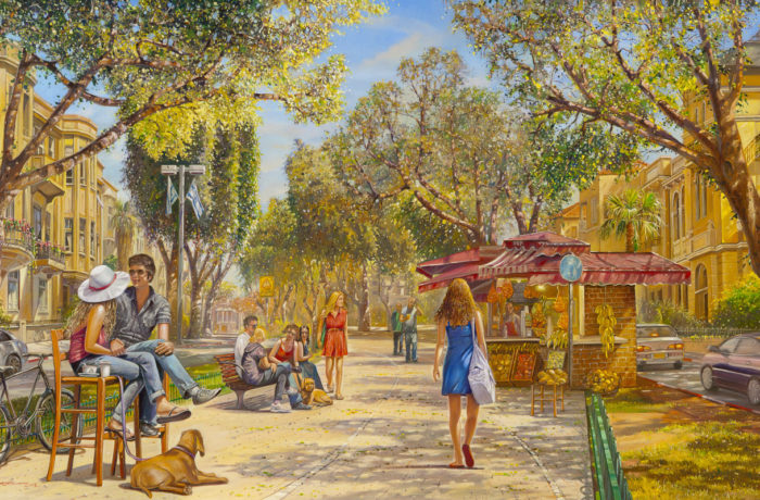 Painting: Fun time in Tel Aviv under the Sun