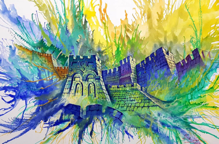 Original Oil Painting: Gates of Mercy on the Temple Mount in Jerusalem
