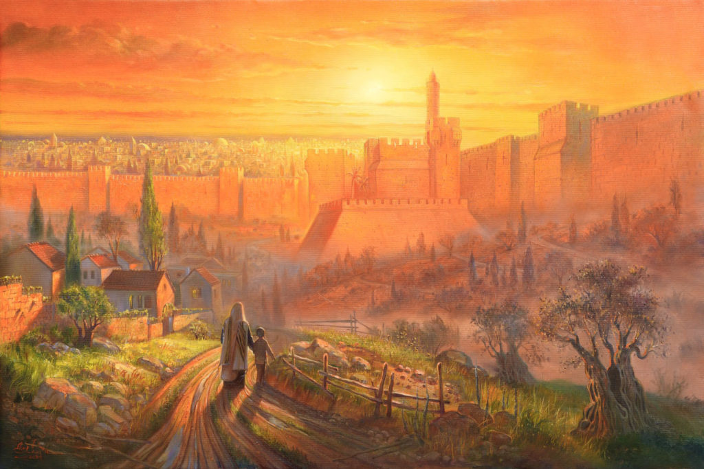 Golden jerusalem painting
