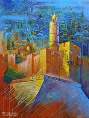 heavenly Jerusalem modern decor wall