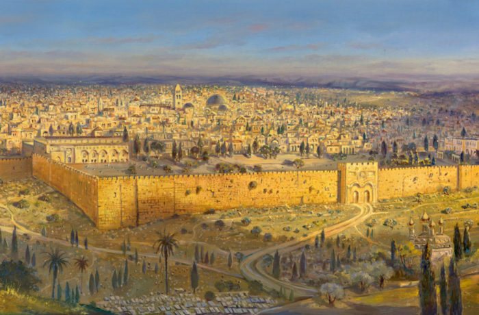 Original Oil Painting: Holy Jerusalem