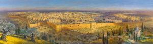 Holy Jerusalem, Painting by Alex Levin