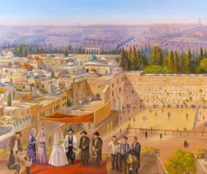 jewish wedding in jerusalem painting