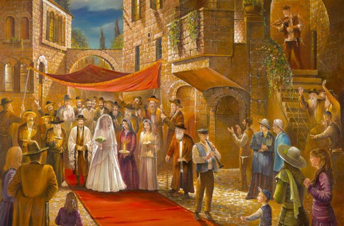 Original Oil Painting: Huppah in Jerusalem