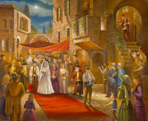 Jewish wedding painting
