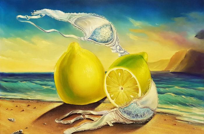 Original Oil Painting: Island of Lemons