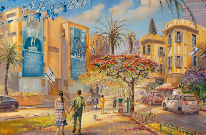 Original Oil Painting: Israel – Past, Present and Future