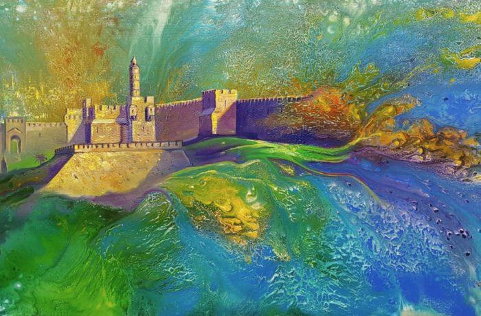 Original Oil Painting: Jerusalem Rising