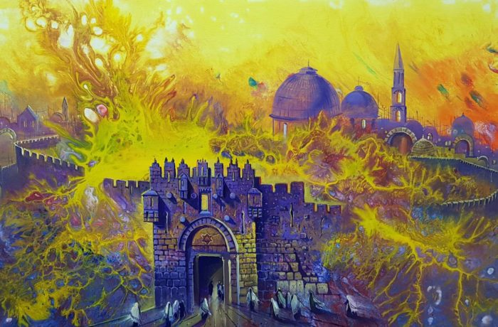 Original Oil Painting: Jerusalem Syndrome
